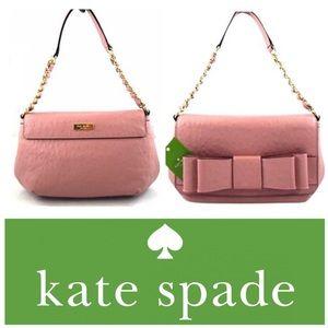 Kate Spade Joleen Charm City Ostrich Rosefrost Bag
